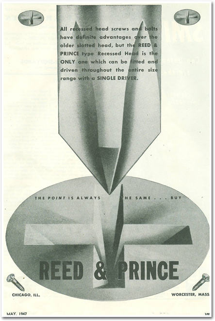 1947 Ad Reed & Prince